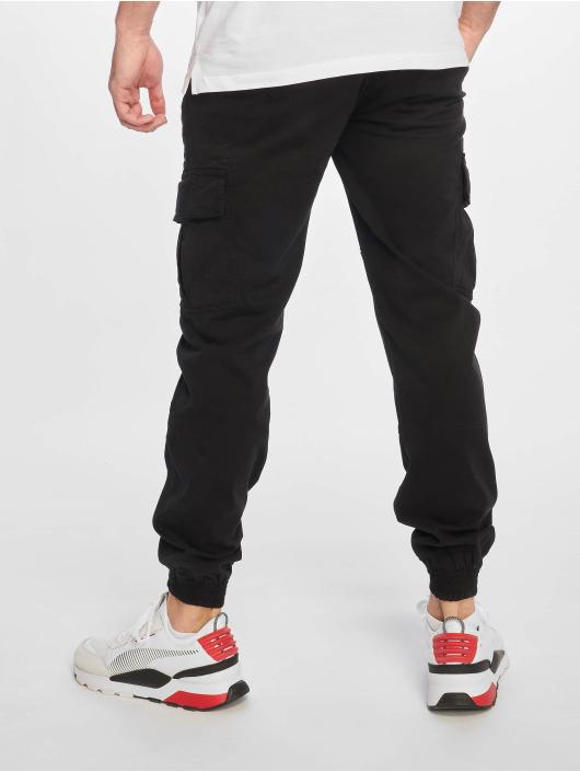 Urban Classics Chino bukser Washed Cargo Twill Jogging svart