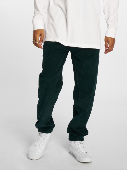 Urban Classics Chino Corduroy 5 Pocket grün