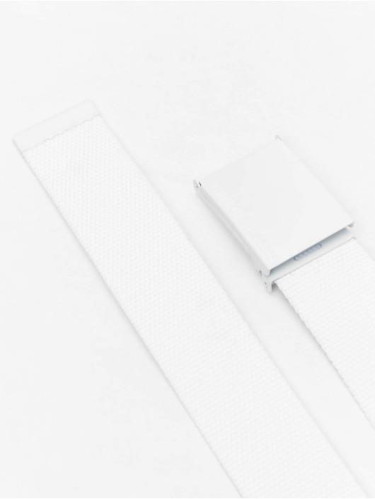 Urban Classics Cintura Coloured Buckle Canvas bianco