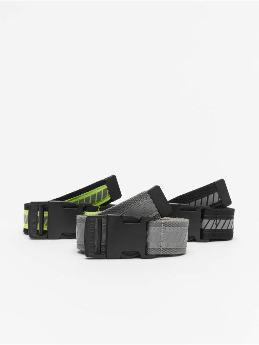 Urban Classics Cinturón Reflective Belt 3-Pack negro