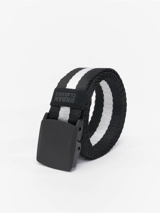 Urban Classics Cinturón Centre Stripe negro