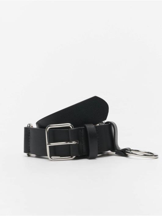 Urban Classics Cinturón Chain Imitation Leather negro