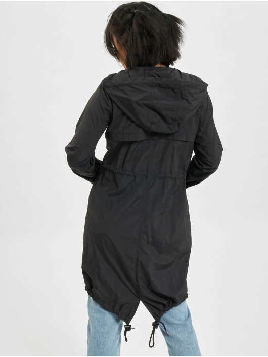 Urban Classics Coats Asymetric black