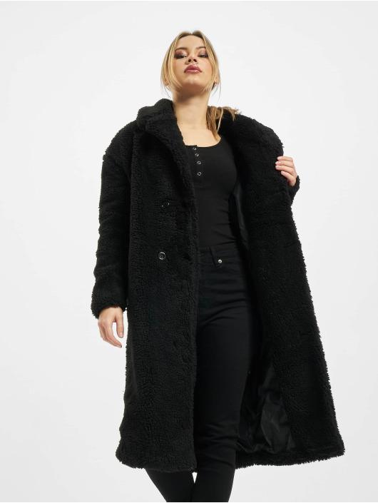 Urban Classics Coats Ladies Oversized Teddy black