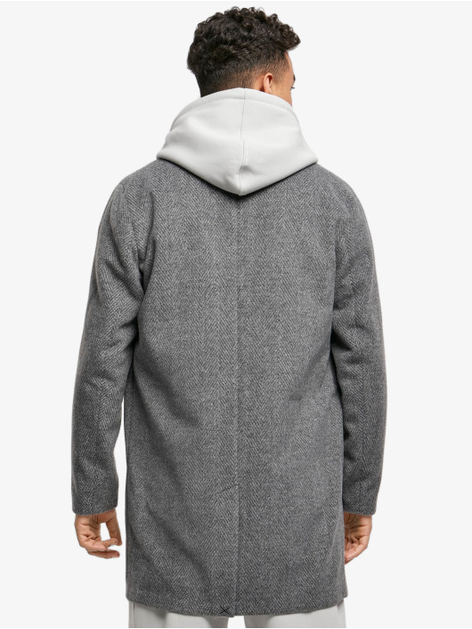 Urban Classics Coats Classic Herringbone grey