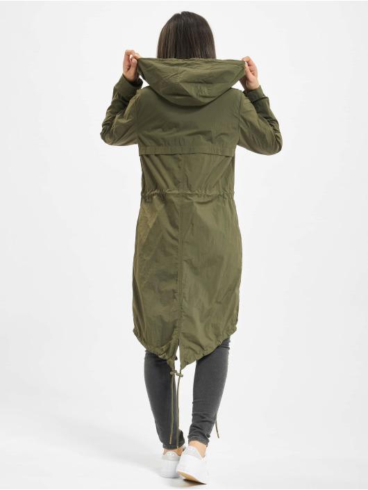 Urban Classics Coats Asymetric olive