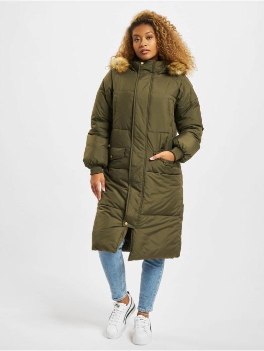 Urban Classics Coats Oversize Faux Fur olive