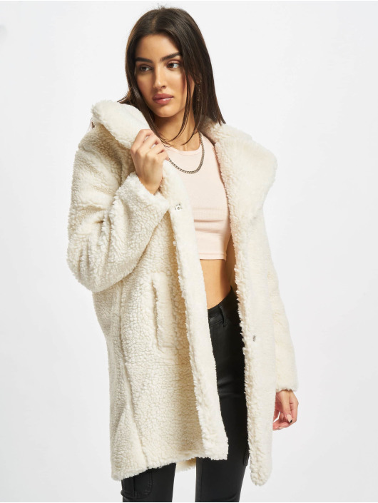 Urban Classics Coats Ladies Oversized white