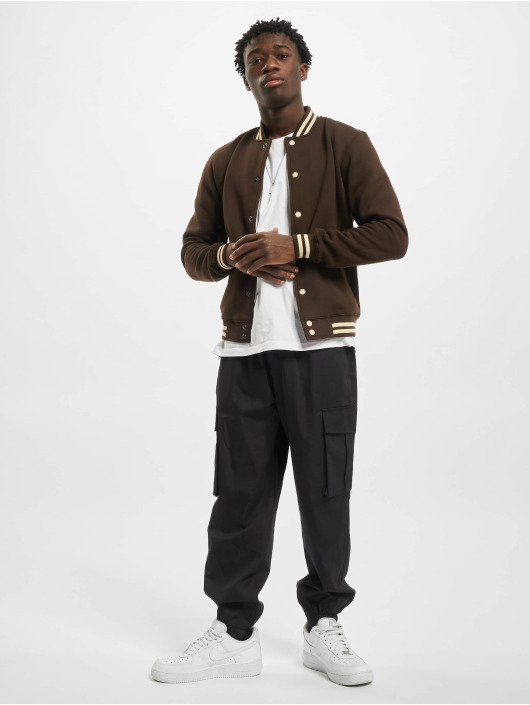 Urban Classics College Jacket Contrast brown