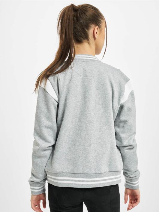 Urban Classics College Jacket Ladies Organic Inset College grey