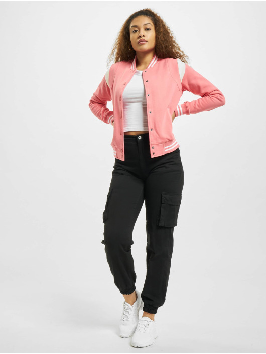 Urban Classics College Jacket Inset College pink