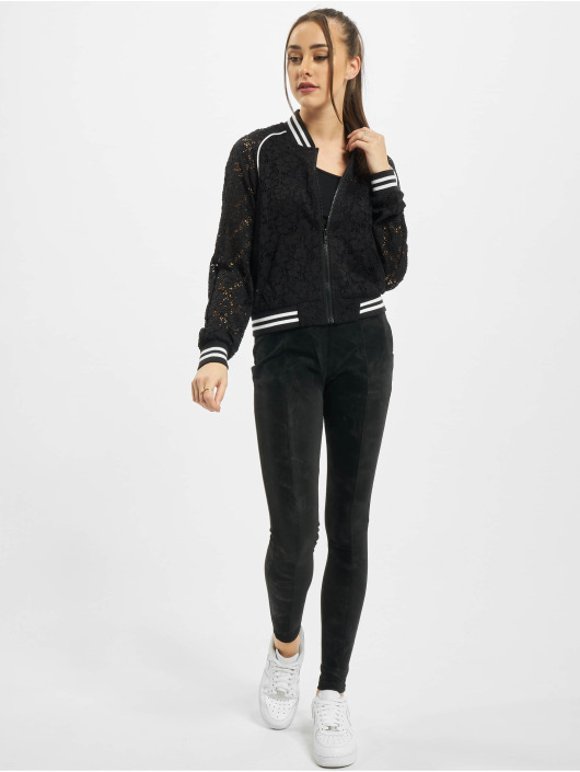 Urban Classics College Jackets Ladies Lace College czarny