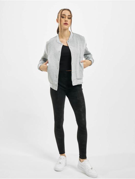 Urban Classics College Jackets Ladies Organic Inset College szary