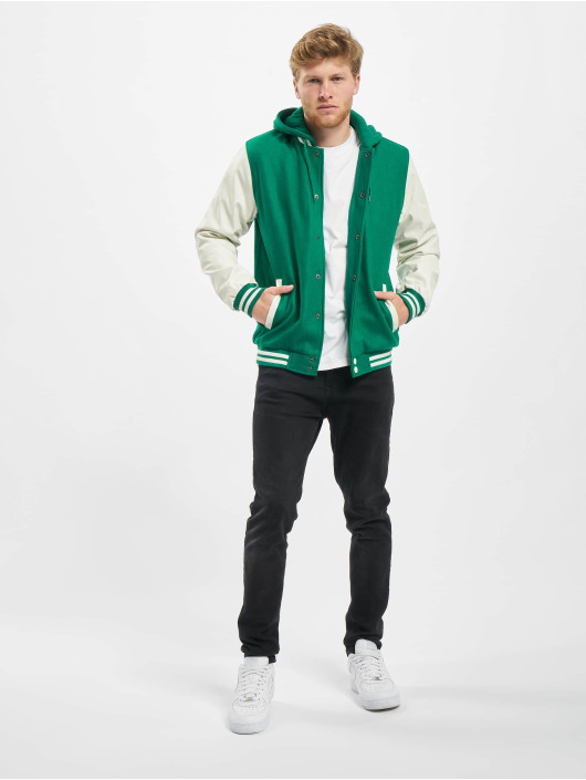 Urban Classics College Jackets Hooded Oldschool zielony