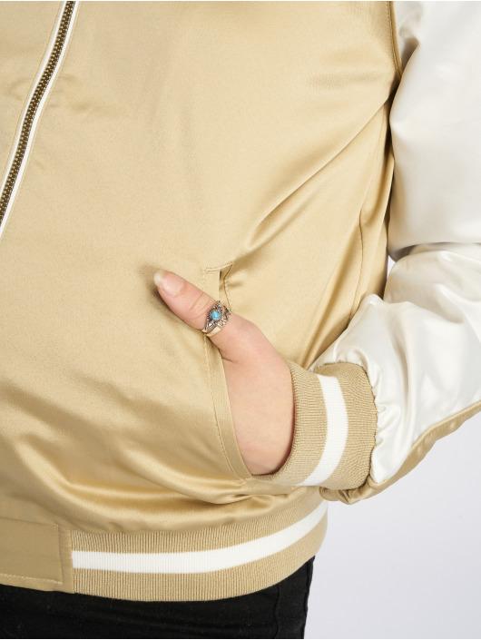 Urban Classics College jakke 3 Tone Souvenir gull