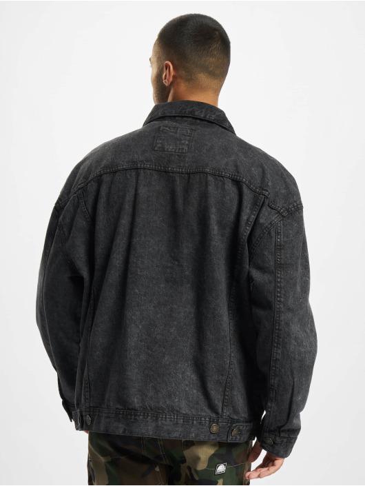 Urban Classics Džínová bunda Oversized Denim čern