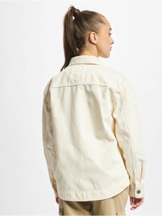 Urban Classics Džínová bunda Ladies Oversized béžový