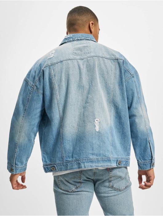 Urban Classics Denim Jacket Ripped Denim blue
