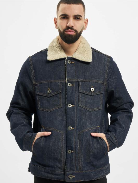 Urban Classics Denim Jacket Sherpa Lined blue