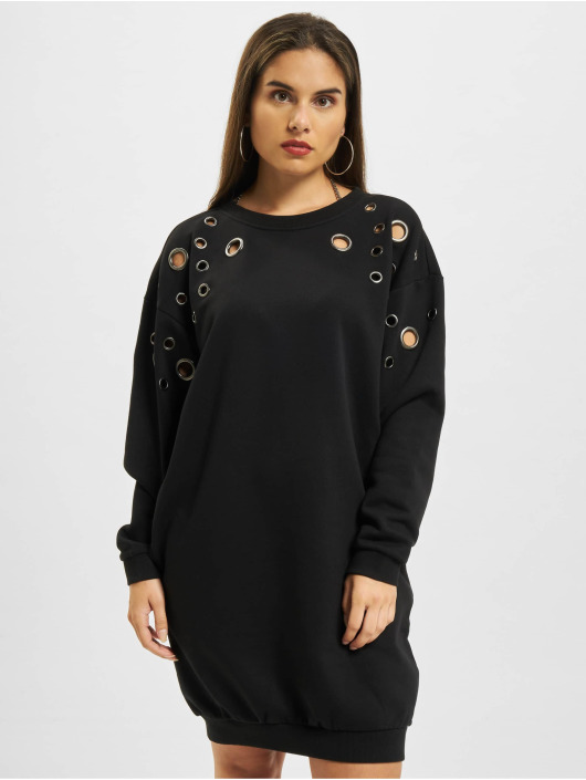 Urban Classics Dress Sweat Eyelet black