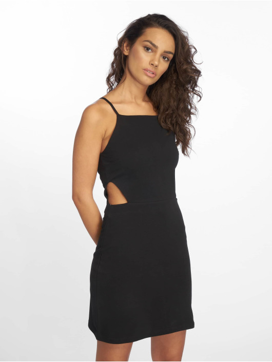 Urban Classics Dress Short Spaghetti Pique black