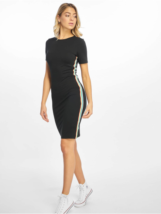 Urban Classics Dress Multicolor Side Taped black