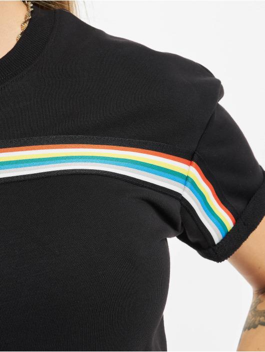 Urban Classics Dress Multicolor Multicolor Taped Terry black