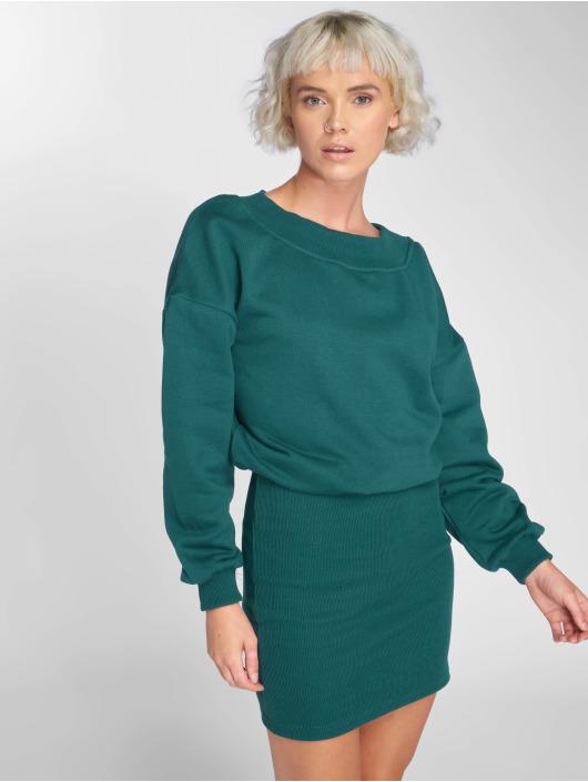 Urban Classics Dress Off Shoulder green