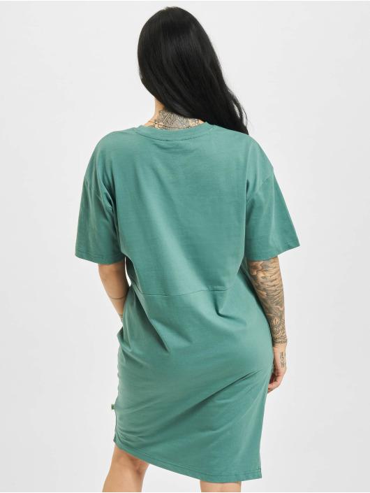 Urban Classics Dress Organic Oversized Slit green