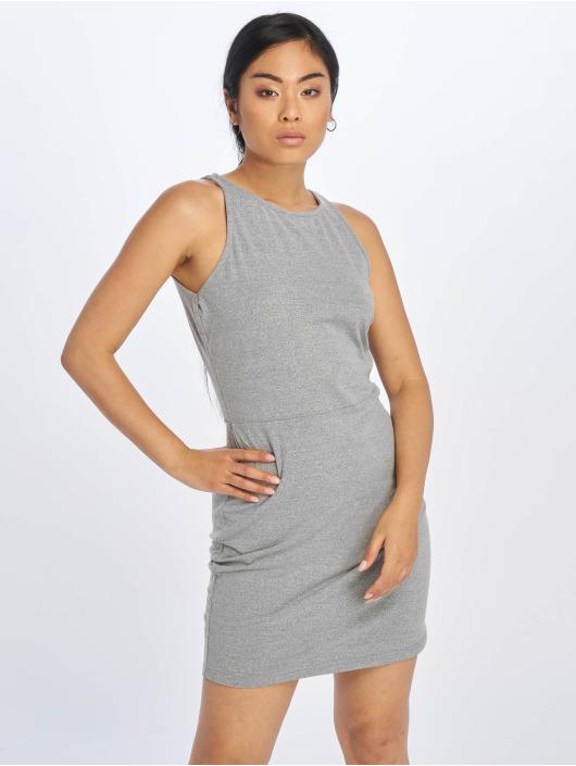 Urban Classics Dress Back Cut Out grey