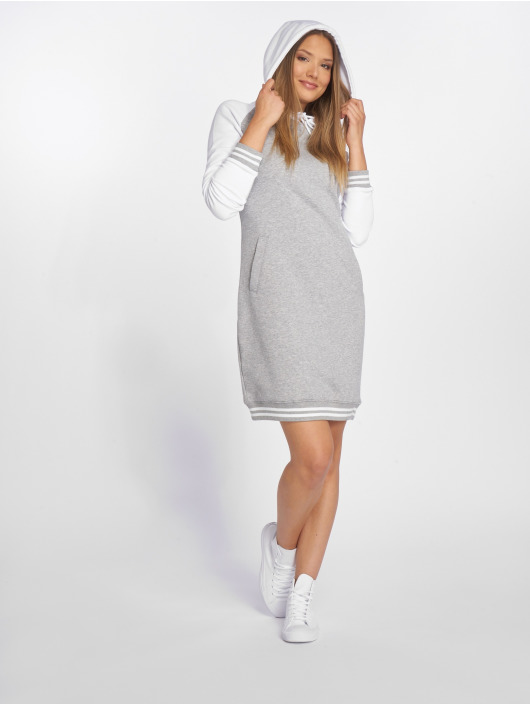 Urban Classics Dress Contrast College Hooded grey
