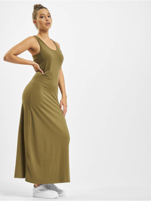 Urban Classics Dress Long Racer Back olive