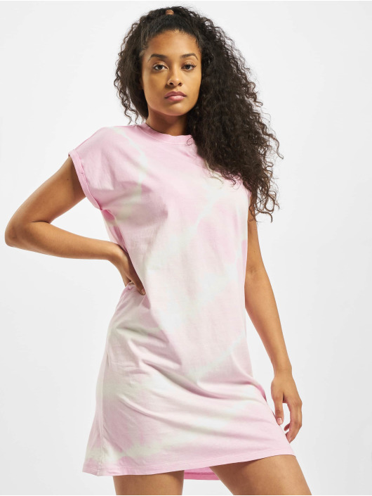 Urban Classics Dress Tie Dye rose