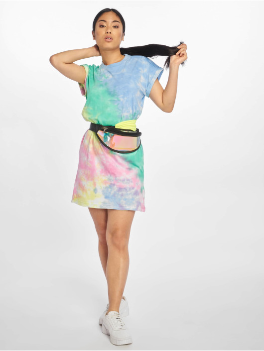 Urban Classics Dress Tie Dye turquoise