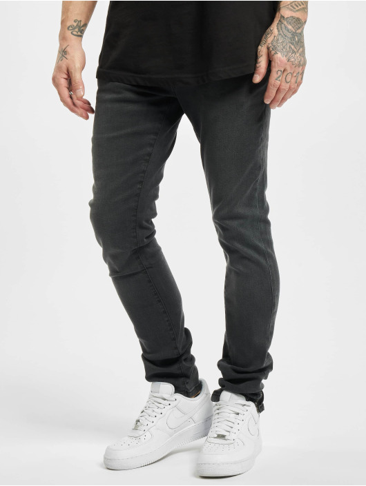 Urban Classics dżinsy przylegające Slim Fit Zip czarny