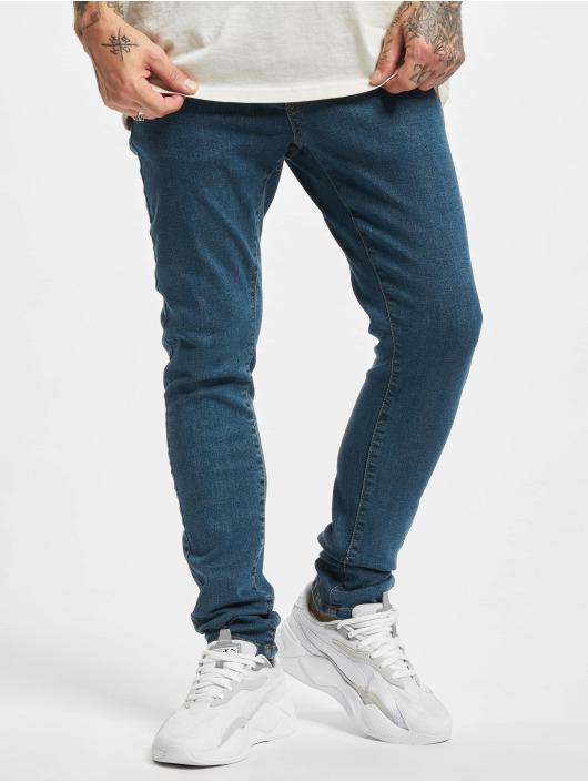 Urban Classics dżinsy przylegające Slim Fit niebieski