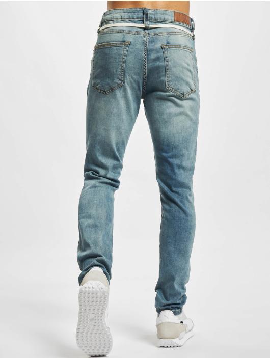 Urban Classics dżinsy przylegające Slim Fit Drawstring niebieski
