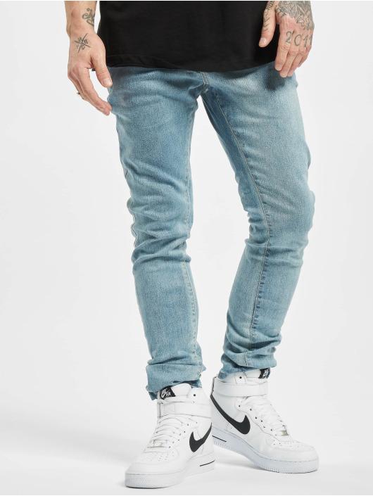 Urban Classics dżinsy przylegające Slim Fit Zip szary