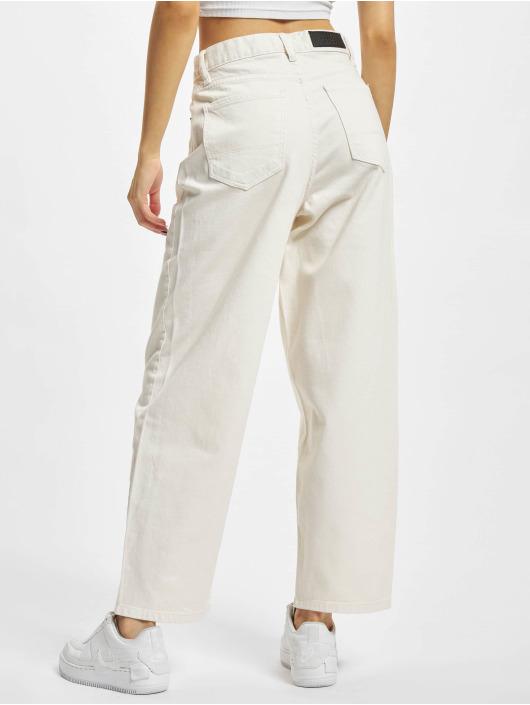 Urban Classics Dżinsy straight fit Ladies High Waist Wide Leg Cropped Denim bezowy