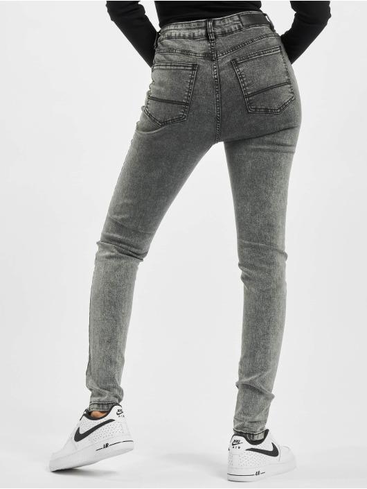 Urban Classics dżinsy z wysoką talią Ladies High Waist Skinny czarny