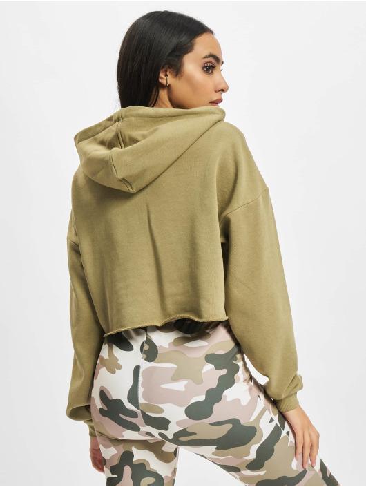Urban Classics Felpa con cappuccio Ladies Oversized Cropped cachi