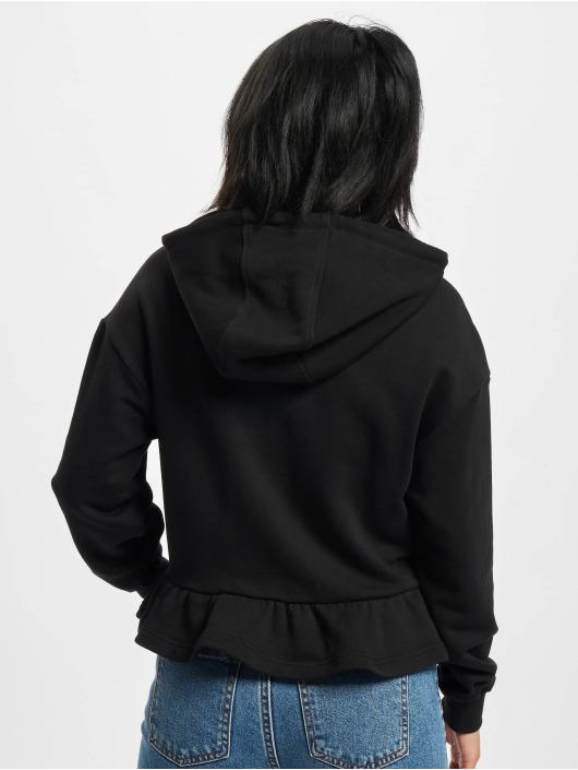 Urban Classics Felpa con cappuccio Ladies Organic Volants nero