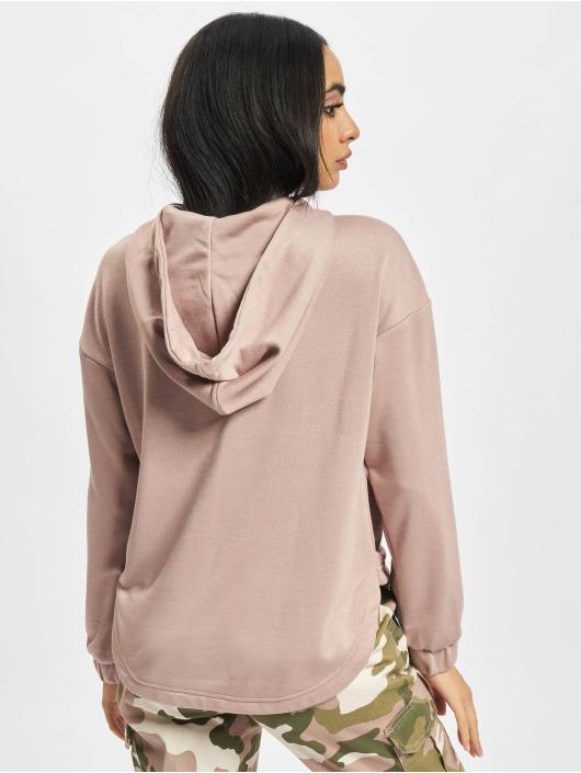 Urban Classics Felpa con cappuccio Ladies Oversized Shaped Modal Terry rosa chiaro