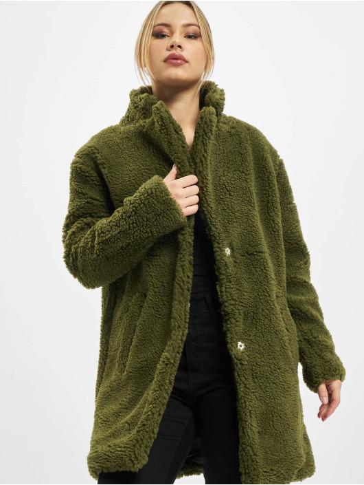 Urban Classics Frakker Ladies Oversized Sherpa oliven
