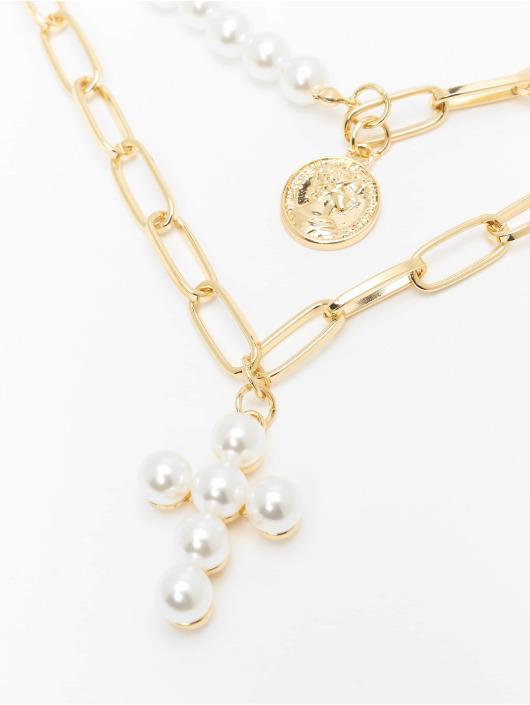 Urban Classics Gadget Pearl Cross Layering bianco