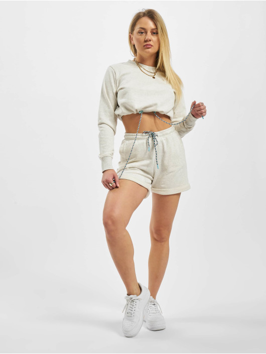 Urban Classics Gensre Ladies Oversized Cropped Crewneck grå