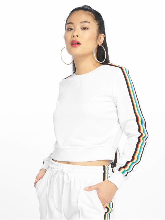 Urban Classics Gensre Multicolor Taped Sleeve hvit