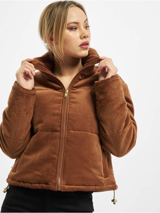 Urban Classics Gewatteerde jassen Ladies Corduroy bruin