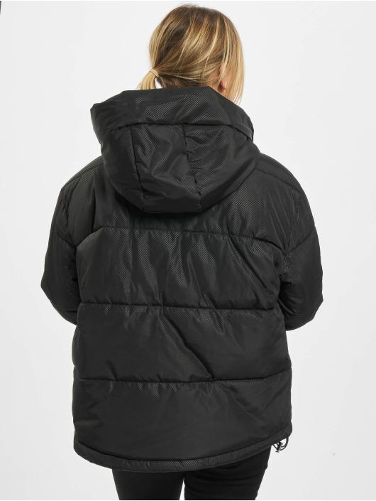 Urban Classics Gewatteerde jassen Ladies Oversized Hooded zwart