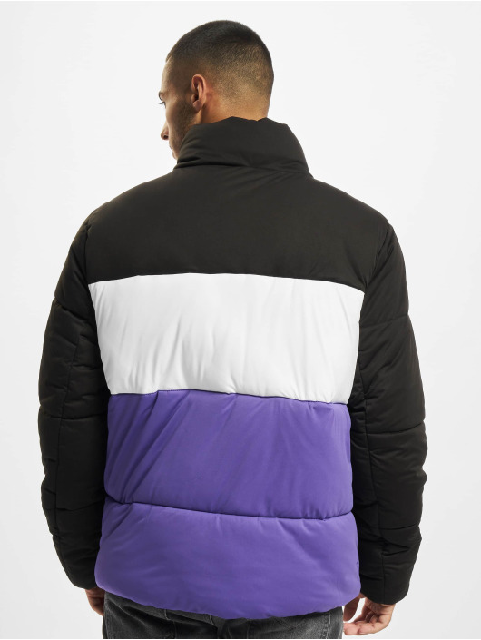 Urban Classics Gewatteerde jassen 3-Tone Boxy zwart